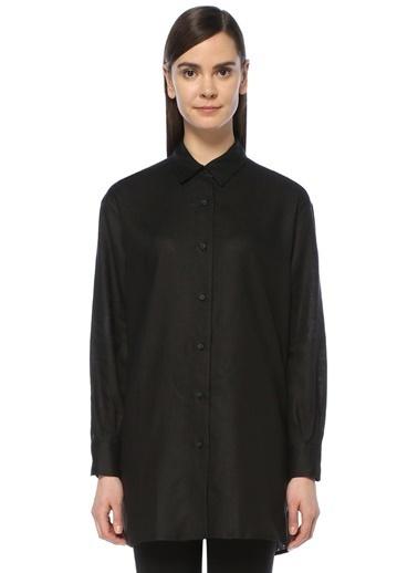 Gravitas %100 Keten Uzun Gömlek Siyah